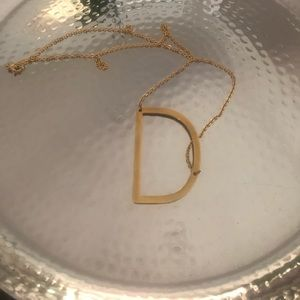 Jewelry - Monogram Necklace letter D